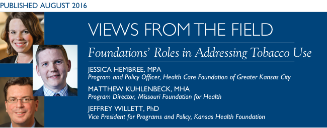 Foundations' Roles in Addressing Tobacco Use