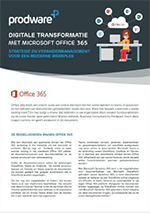 factsheet Strategie en verandermanagement voor een moderne werkplek.