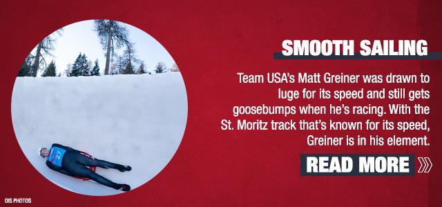 Matt Greiner surges down luge track in St. Moritz