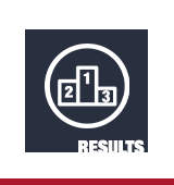 "Icon of a podium with positions labeled 1, 2, 3, with text ""results"""