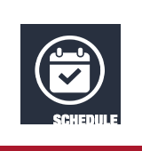 "Icon of a page-a-day calendar with text ""schedule"""