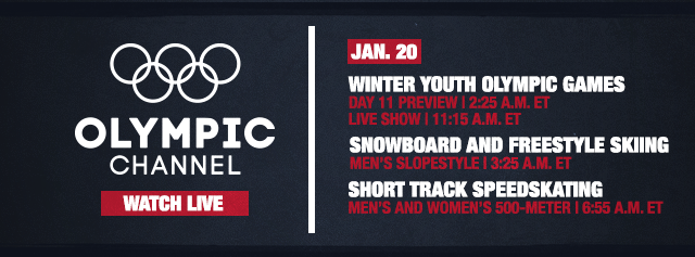 Olympic Channel tune in times